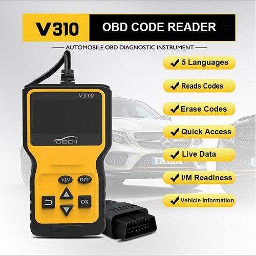 2019 Brand New Style Ancel V310 OBD Code Reader Scanner Car Check Engine Fault Diagnostic Tool 80mA