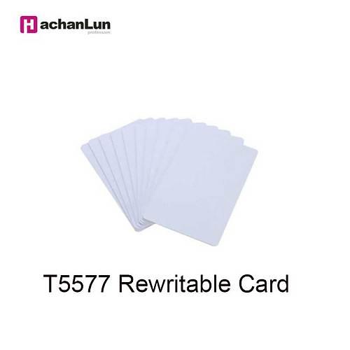 HaChanLun 5/10PCS RFID 125KHZ erasable copy access control card T5577 smart chip clone label EM4305 reader write keychain