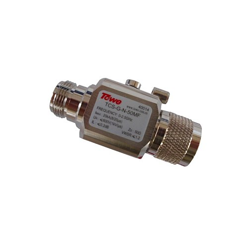 TOWE coaxial protector lightning arrester protection antennaTV TCS-G-N-50MF  0-2.5G, 50 ohm, N, both ends of the MF,   Imax 20KA