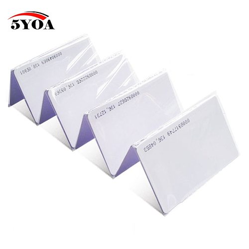 100pcs Quality Assurance EM ID CARD Read Only 4100/4102 reaction ID card 125KHZ RFID Card fit for Access Control Time Attendance