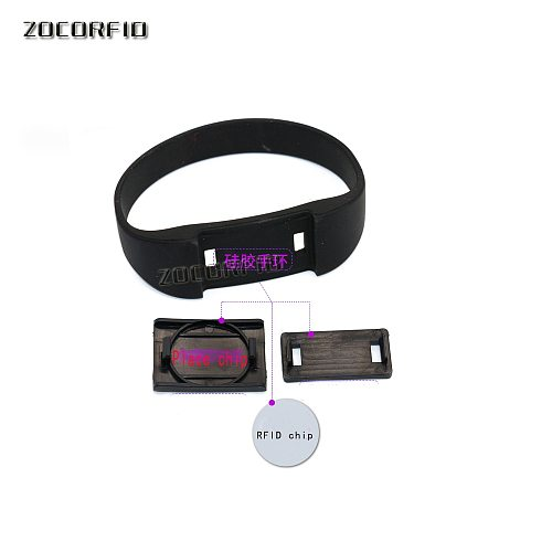 125KHZ/13.56MHZ Rewritable RFID Bracelet Silicone Wristband Watch Copy Clone Blank Card In Access Control Card
