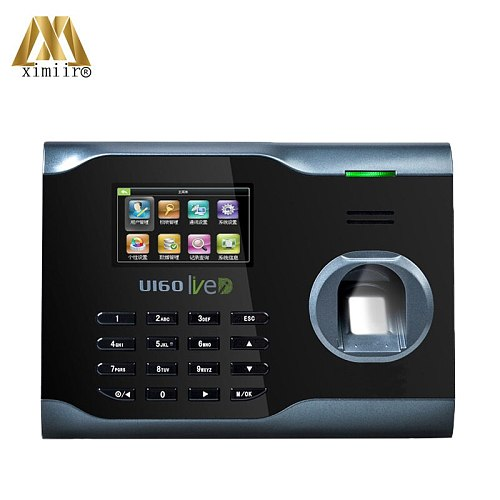 U160 Fingerprint Time Attendance With 125KHZ RFID Card Reader WIFI TCP/IP Fingerprint Reader Time Clock Biometric Time Recorder