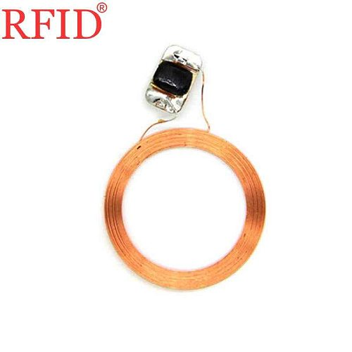 S50 IC 13.56MHz Read Only FM11RF08 MF 1K F08 Key Ring RFID NFC Tags Circular Naked Coil+Chip Access Control Fast Shipping 1pcs