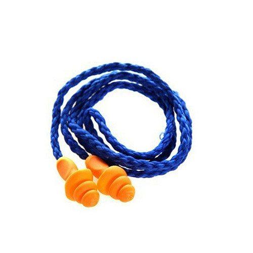 New 10Pcs Soft Silicone Corded Ear Plugs ears Protector Reusable Hearing Protection Noise Reduction Earplugs Earmuff Sleep