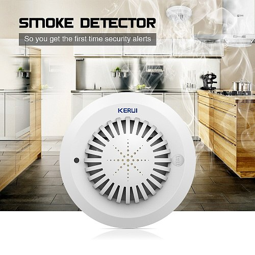 KERUI 5pcs High Sensitivity 433MHz SD03 Voice Prompts Fire Smoke Alarm Fire Security Smoke Detector Applied To House Hotel Shop