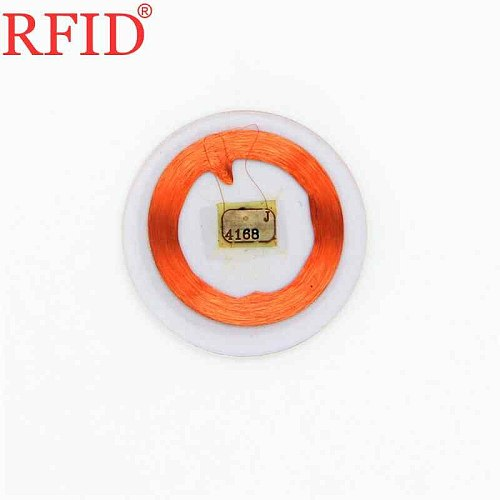 ID 125khz EM4100 TK4100 25mm Transparent Circular Coin Read Only Card Keyfobs RFID Proximity Token Access Control Tag Smart Tag