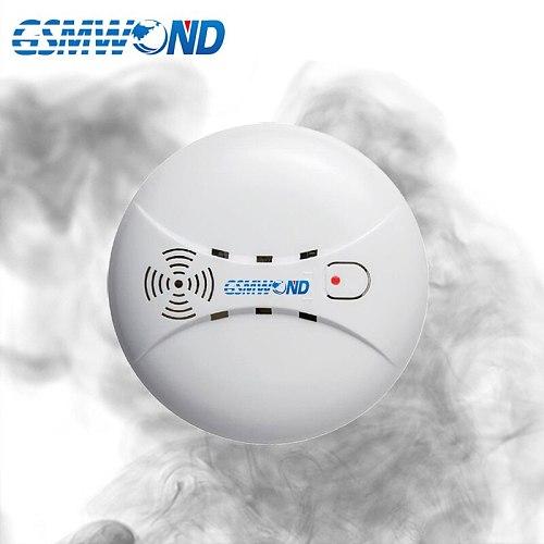 433MHz Wireless Smoke Detector, Built-in transmit antenna, Support G90B / KR-G18 / KR-8518G GSM Alarm System, Free Shipping,