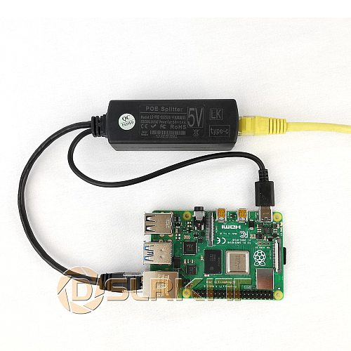 Gigabit Raspberry Pi 4 4B Active PoE Splitter USB TYPE C 5V Power Over Ethernet