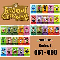 New Horizons Amiibo Animal Crossing Card For NS Switch 3DS Game Marshal Card Set NFC Cards Series 1 (061-090)