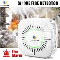RF433 Smoke Detector,Wireless Smoke Fire Alarm Sensor,Security Protection Alarm for Home Automation,Work with RF Bridge
