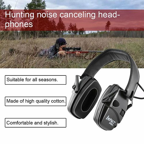 Tactical Electronic Shooting Earmuff Outdoor Hunting Anti-noise Headset Impact Sound Amplification Hearing Protective Headset