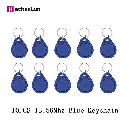 5 / 10PCS NFC smart chip tag badge 13.56Mhz 0 sector writable key token RFID 1K s50 copied rewritten clone access control card