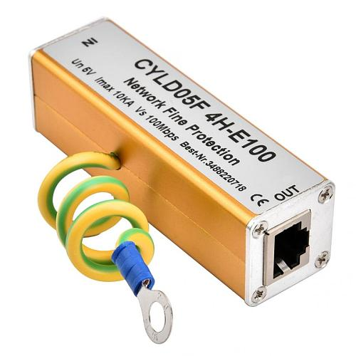 RJ45 RJ11 Adapter Ethernet Network Surge Protector Thunder Lighting Arrester Protection 5V protector sobretensiones transitorias