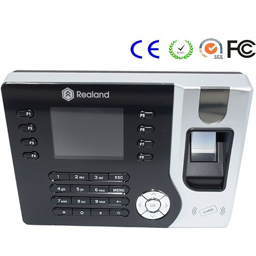 Employee Fingerprint Time Attendance Office Rfid Time Recorder Realand A-C071 High Quality USB TCP/IP
