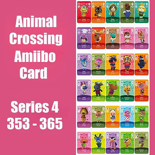 Series 4 (353 to 365) Animal Crossing Card Amiibo Cards locks nfc 3DS Card Work for Switch NS Games Animal Crossing Card