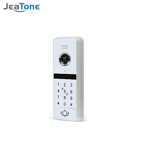 JEATONE Wired Full Touch Screen Doorbell Outdoor Unit 720p,Support Password Unlock ,Need to Work with Jeatone IP Wifi Monitor