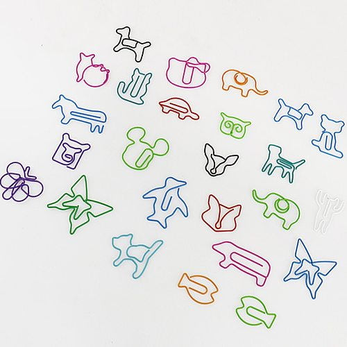 TUTU 30pcs/lot Cute Cartoon Animal Shape Paper Clips Creative Interesting Bookmark Clip Memo Clip Shaped Paper Clips H0006