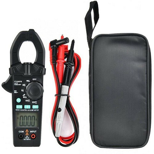 FY3267S Clamp Testers Portable Digital Clamp Meter 6000 Counts AC DC Current Clamp Multimeter FKU66