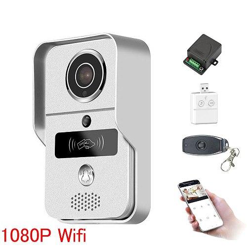 Wifi video door phone doorbell Wireless Intercom Support IOS Android RFID Keyfob Access Video Door Phone Intercom+Bell+32GB Card