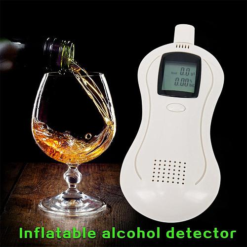Portable Alcohol Tester LED Screen Breath Breathalyzer For Personal Professional Use