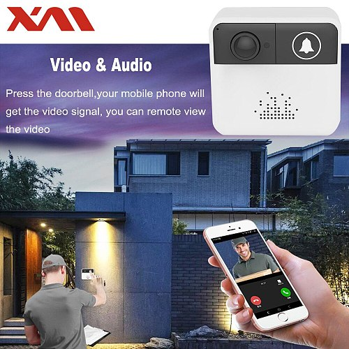 Mini Wireless WiFi Video Doorbell Camera Door bell Monitor Smart Camera Video Intercom Phone Intercom/Audio Free APP XM-IDS1