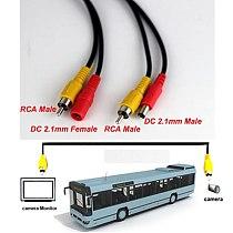 5M/10M/20M RCA Video AV DC Power Cable for TV CCTV Car Truck Rearview Camera Kit