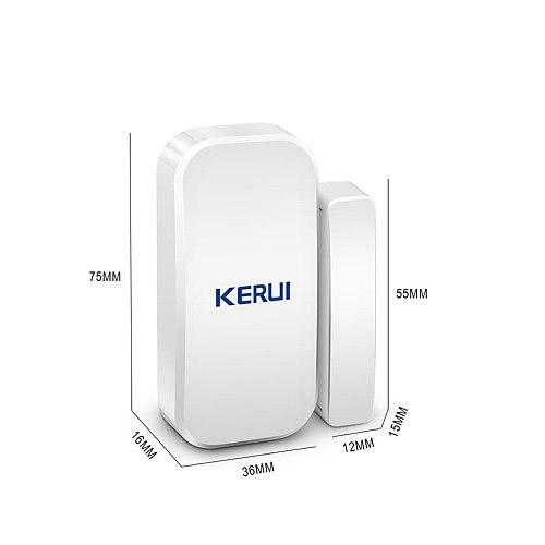 KERUI 5pcs 433 MHz Wireless Door Sensors Door Opening Sensor Window Sensor Gap Detector for Home Alarm System