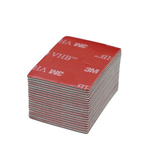 20pcs/3M Gray Tape Rubber Foam Double-sided Adhesive Strong Sticking Surface Red Gray Bottom Office Stationery Tape 30x40mm