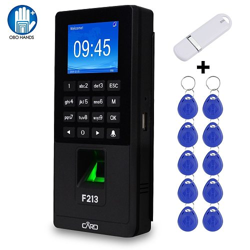 Biometric Fingerprint Access Control Keypad Password RFID Time Attendance Machine Support TCP/IP Network USB Employee Check-in