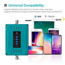 ANNTLENT 4G LTE AT&T Verizon Cell Phone Signal Booster 700/850/1700/1900MHz for Improve 4G LTE Data & Voice Call Home Amplifier