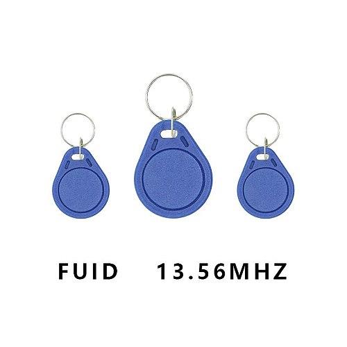 10 pieces/Set 13.56Mhz RFID FUID card label one-time key copy clone keychain UID changed block 0 writable close key Tag