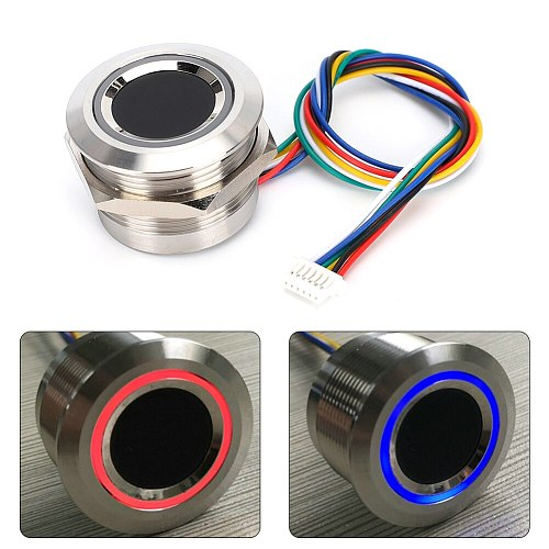R503 Circular Capacitive Fingerprint Identification Module with 2-Color Ring Indicator Light Built-in algorithm chip