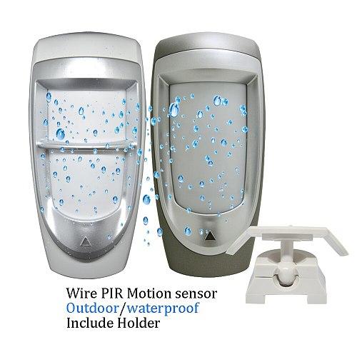 (1 pcs)12VDC Outdoor IP45 Waterproof wired Infrared Motion Sensor Dual PIR Detector Alarm DG85 Home security Pet immunity