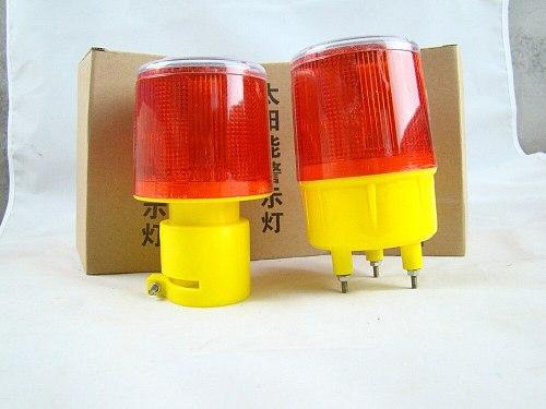Solar Powered Traffic Warning Light,LED Solar Safety Signal Beacon Alarm Lamp 3 LED