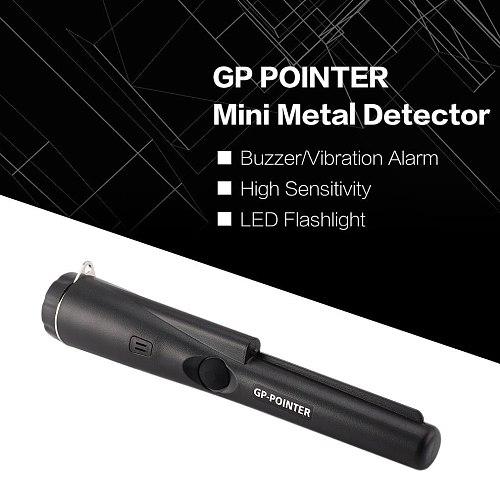 Portable Sensitivity Gp-pointer Hand Held Metal Detector IP66 Waterproof Dustproof Pinpointers Built-in LED Lights LESHP