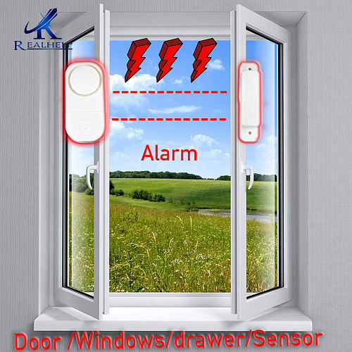 Wireless Home Security Alarm System DIY Kit Window Sensor Alram  Security Burglar Alarm for Homes, Cars, Sheds, Caravans
