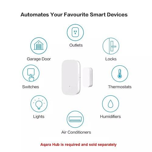 100% Original Hot Aqara Door Window Sensor Zigbee Wireless Connection Smart door sensor Work With Android IOS App control