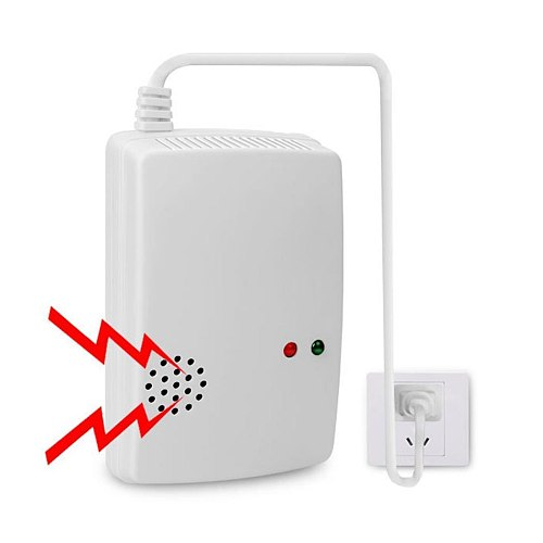 Combustible Gas Alarm LPG LNG Coal Natural Gas Leak Standalone Detector Sensor High Sensitive For Home Security Safety