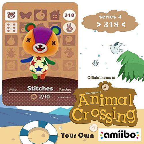 318 Animal Crossing Amiibo Card Stitches Amiibo Card Animal Crossing Series 4 Stitches Nfc Card Work for Ns Games Dropshipping