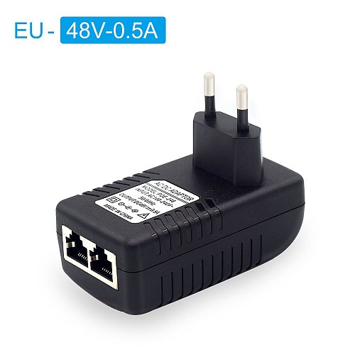 48V /12V POE injector Ethernet CCTV Power Adapter 0.5A /2A 24W POE for IP camera IP Phones POE Switch Power Adapter EU/US Option
