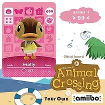 099 Animal Crossing Amiibo Card Molly Amiibo Card Animal Crossing Series 1 Molly Nfc Card Work for Ns Games Fast Shipping