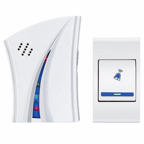 White plastic Doorbell Bell Doorbell Electric Wireless Door 36 Melodies