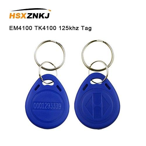 5/10pcs EM4100 TK4100 125khz Proximity Chip Tag Tags Card Sticker Key ID Keyfob RFID Fob Token Ring