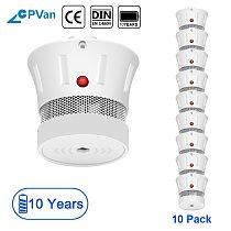 CPVan Smoke Detector Alarm 10 Years Battery Fire Protection EN14604 CE Certified Fire Detector Smoke Sensor Fire Alarm for Home