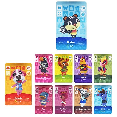 Animal Crossing Card NFC Cards Hot Villager Marshal Ankha For nintendo NS Games series 1 2 3 4 (121 to 150 )