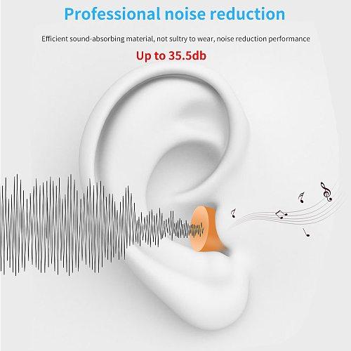30/60 pairs TISHRIC Ear Plugs PU Sponge Earplugs Anti Noise reduction 35.5db Ear Plugs for Sleep Ear Protector