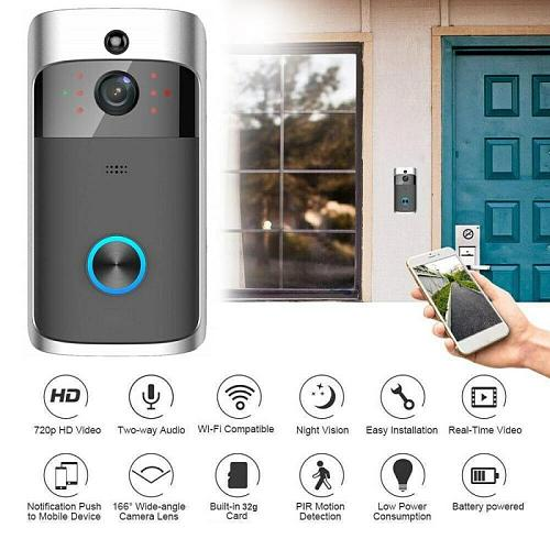 M3S Smart Wireless Doorbell Camera Wifi Video Intercom Call For Apartments Door Bell Ring For Phone Home Security Cameras
