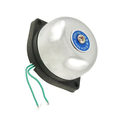 MOOL 55mm Diameter Fire Alarm Electric Gong Bell AC 220V
