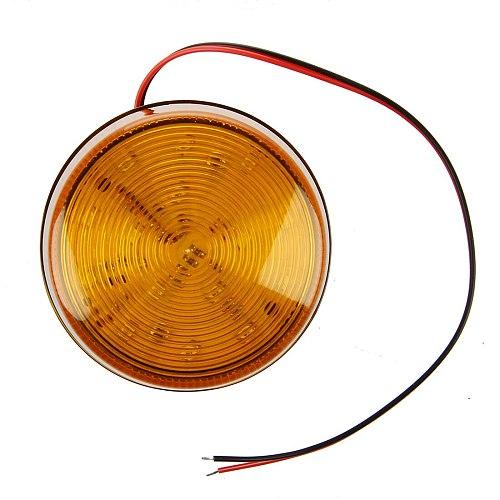 MOOL 12V Security Alarm Strobe Signal Safety Warning Blue/Red Flashing LED Light Orange