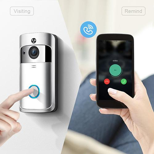 M3S Wireless Wi Fi Video Door Bell Doorbell Smart Home IP Door Bell Camera Alarm Security Night Vision Go Visual Ring Intercom
